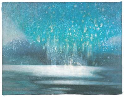 Starry Sky Fleece Blanket by Yunlan He
