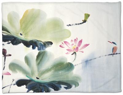 Couples Fleece Blanket by Chi Wen
