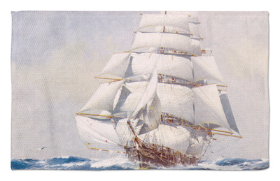 Clipper Under Full Sail Rug by J. Spurling