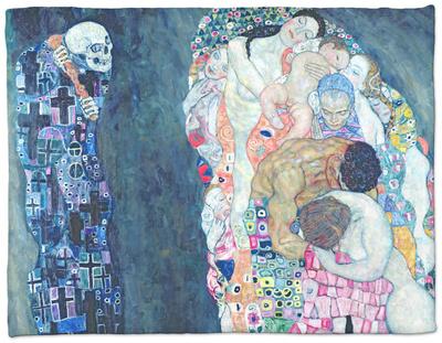 Death and Life, circa 1911 Fleece Blanket by Gustav Klimt