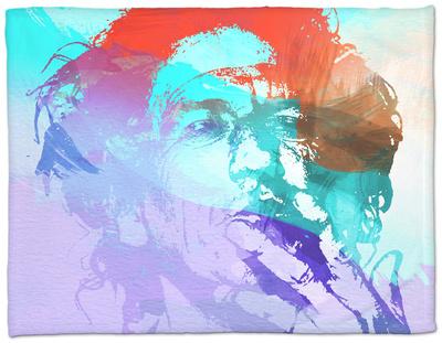 Keith Richards Fleece Blanket by  NaxArt