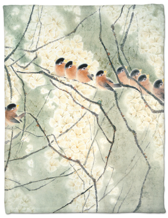 Aroma of Early Spring Fleece Blanket by Minrong Wu