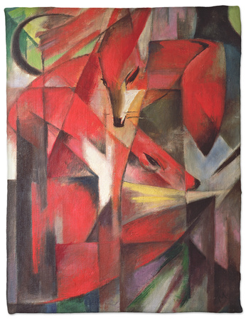 The Fox, 1913 Fleece Blanket by Franz Marc