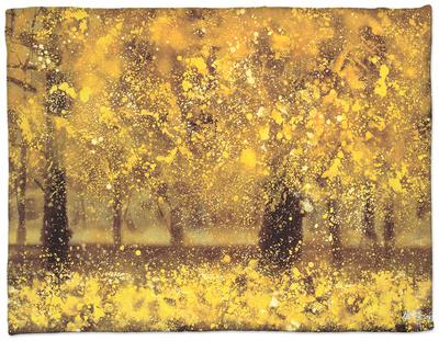Golden Age Fleece Blanket by Pihua Hsu