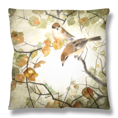 Lanius Schach Throw Pillow by Minrong Wu