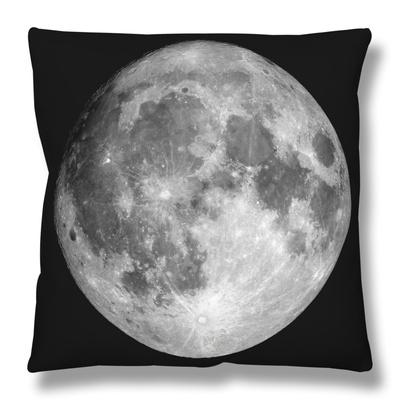 Full Moon Throw Pillow by  Stocktrek Images