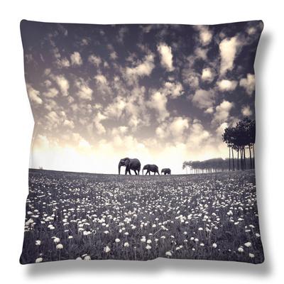 Manada Throw Pillow by Luis Beltran