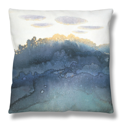 Clouds at Dusk Throw Pillow by Yunlan He
