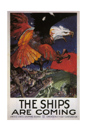 The Ships are Coming Giclee Print by James Henry Daugherty