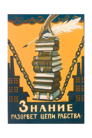 Knowledge Will Break the Chains of Slavery Giclee Print by Alexei Alexandrovich Radakov