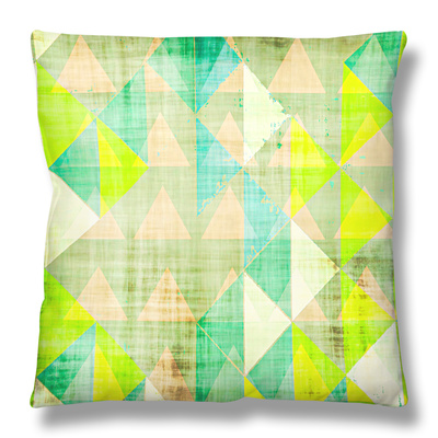 Citrus Geometry III Throw Pillow by Amy Lighthall