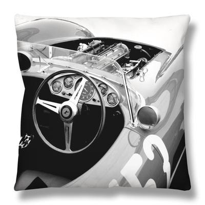 Ferrari Cockpit Throw Pillow by  NaxArt