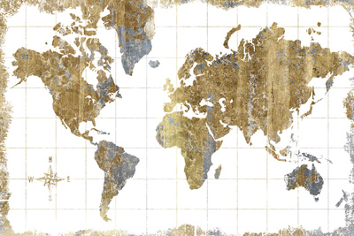 Gilded Map Posters by Hugo Wild