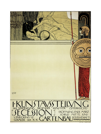 Poster for the First Art Exhibition of the Secession Art Movement Giclee Print by Gustav Klimt