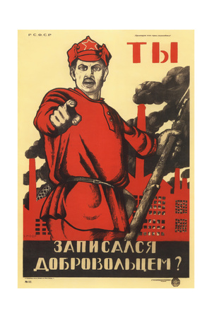 Have You Volunteered for the Red Army Giclee Print by Dmitri Stachievich Moor