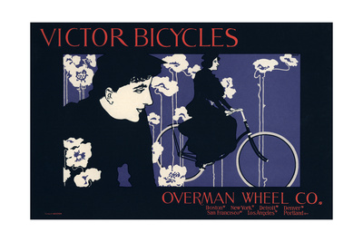 Victor Bicycles, Overman Wheel Co Giclee Print by William Bradley