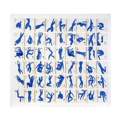 A Pack of Blue Dancers No.1, 2015 Giclee Print by Holly Frean