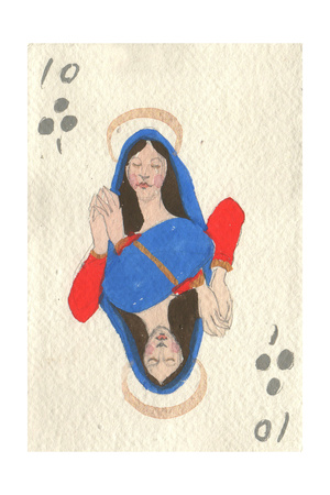 The Virgin Adoring the Host, after Ingres, 2015 Giclee Print by Holly Frean