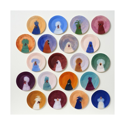 20 Chickens, 2014 Giclee Print by Holly Frean