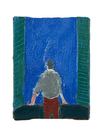 Matisse Stares Out of the Window, 2015 Giclee Print by Holly Frean