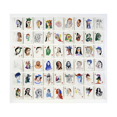 A Pack of Picasso's Women, 2015 Giclee Print by Holly Frean