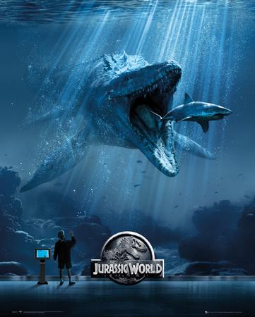Jurassic World Mosa One Sheet Miniplakat