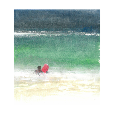Surfing 2, Sri Lanka, 2015 Giclee Print by Lincoln Seligman