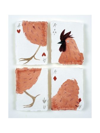 Aces Chicken Puzzle, 2015 Giclee Print by Holly Frean