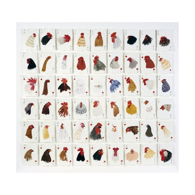 A Pack of Chickens, 2015 Giclee Print by Holly Frean