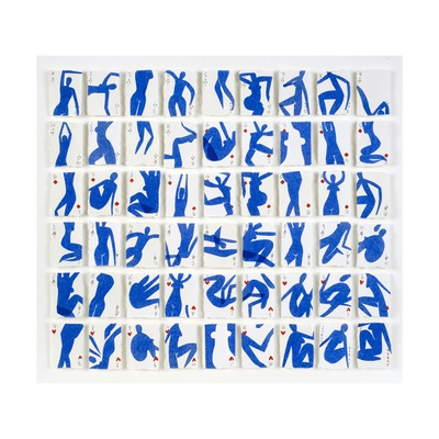 A Pack of Blue Dancers No.2, 2015 Giclee Print by Holly Frean