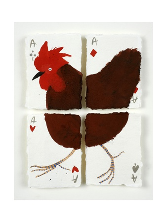 Aces Chicken, 2015 Giclee Print by Holly Frean