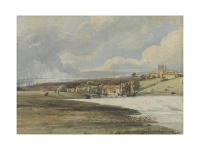 Exeter from Trew's Weir, C.1799 Giclee Print by Thomas Girtin
