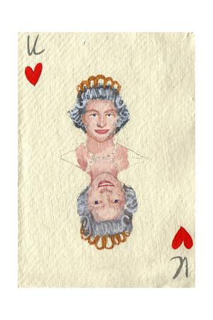 Elizabeth II, 2015 Giclee Print by Holly Frean