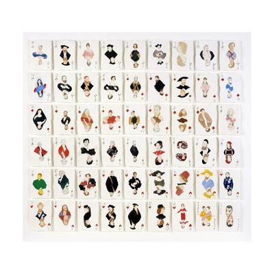 A Pack of Portraits from the Metropolitan Museum of Art, New York, 2015 Giclee Print by Holly Frean