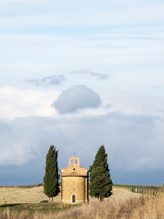 Italy, Tuscany, San Quirico Dorcia. the Vitaleta Chapel Photographic Print by Julie Eggers