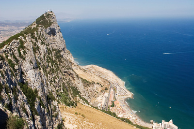 The Rock of Gibraltar Overlooking the Atlantic Ocean Photographic Print by Susan Degginger