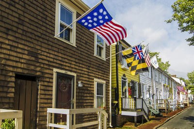 Colonial Architecture in Historic Annapolis, Maryland Photographic Print by Jerry Ginsberg