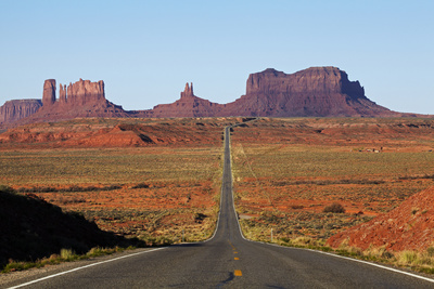 Utah, Navajo Nation, U.S. Route 163 Heading Towards Monument Valley Photographic Print by David Wall