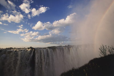 Africa, Zambia Side, View of Victoria Falls Rainbow Photographic Print by Stuart Westmorland