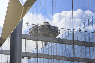Seattle Space Needle Reflections, Seattle Center, Wa Photographic Print by Stuart Westmorland