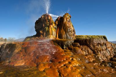 USA, Nevada, Gerlach, Fly Geyser, Black Rock Desert Photographic Print by Bernard Friel