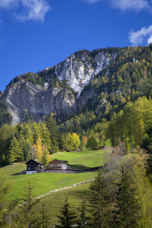 Mountain Home, Dolomites, Val Di Funes, Trentino Alto Adige, Italy Photographic Print by Brian Jannsen
