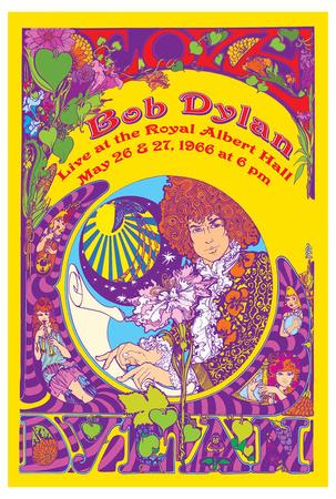 Bob Dylan at Royal Albert Hall 1966 Poster by Marijke