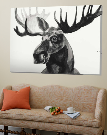 Watercolor Moose Poster by Ben Gordon