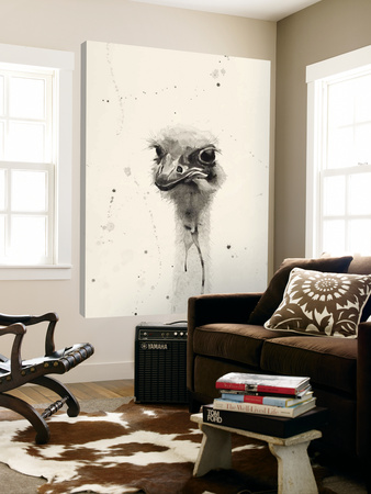 Watercolor Ostrich 2 Posters by Ben Gordon