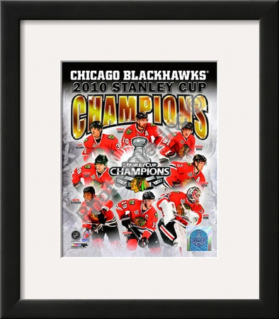 2009-10 Chicago Blackhawks Stanley Cup Champions Framed Photographic Print