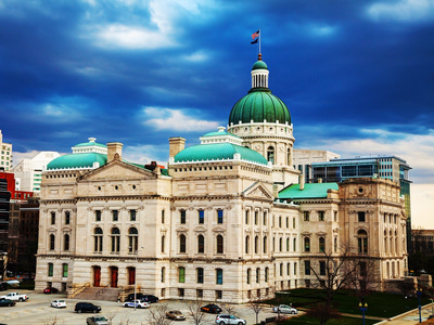 Indiana State Capitol Building Photographic Print by  photo ua