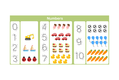 Counting and Writing Numbers to 10 for Kids Prints by  aekikuis