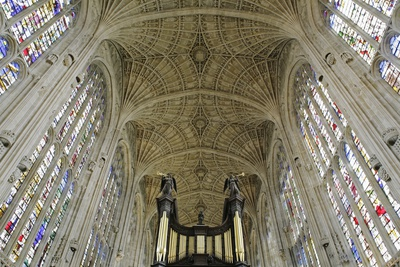 Ceiling of King's College Chapel Photographic Print by  Design Pics Inc
