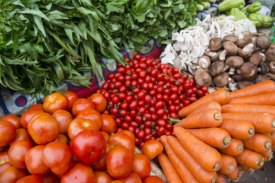 Vegetables for Sale in a Street Market Photographic Print by Michael Melford